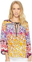 Hale Bob Meeting of the Minds Woven Top Women's Long Sleeve Pullover