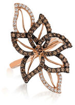 LeVian Chocolatier Crazy Vanilla and Chocolate Diamond and 14K Strawberry Gold Ring