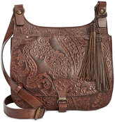 Patricia Nash Burnished Tooled Lace London Crossbody Saddle Bag
