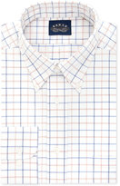 Eagle Men's Classic-Fit Non-Iron Stretch Collar Blue Multi Check Dress Shirt