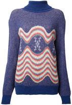 Katharine Hamnett wavy intarsia jumper
