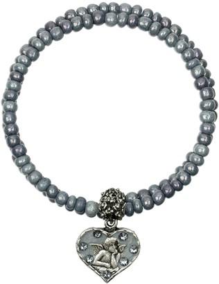 Anne Koplik Swarovski Crystal Guardian Angel Wrap Bracelet