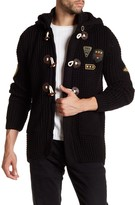 Ron Tomson Long Lightweight Zip and Patch Cardigan