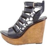 Diane von Furstenberg Leather Multistrap Platform Sandals