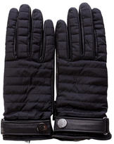 Moncler Nylon & Leather Gloves