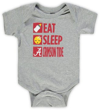 Outerstuff Infant Heathered Gray Alabama Crimson Tide Daily Agenda Creeper