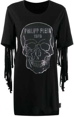 Philipp Plein Fringed Skull Dress
