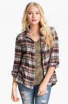 Living Doll Plaid Flannel Shirt (Juniors)