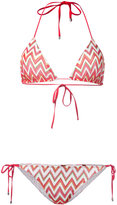 Missoni chevron pattern bikini - women - Nylon/Polyester/Spandex/Elastane/Viscose - 42