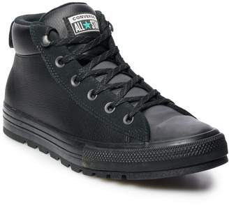Converse Men's Chuck Taylor All Star Street Mid Leather Sneaker Boots