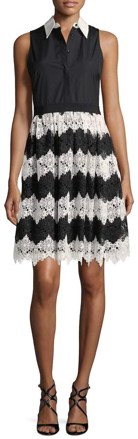Alice + Olivia Women's Collared Fit-And-Flare Dress