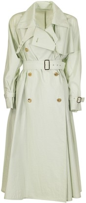 Max Mara Falster Trench Coat In Cotton-blend Fabric