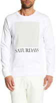 Saturdays NYC Bowery Crew Neck Sweatshirt