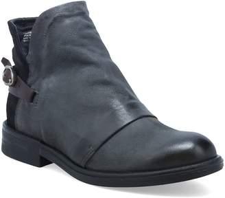Miz Mooz Leather Low Heel Back Strap Ankle Booties - Paco