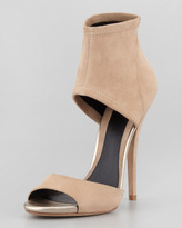 Brian Atwood Correns Stretch Band Sandal, Nude