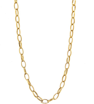 Jennifer Meyer Small Edith Yellow Gold Link Chain Necklace