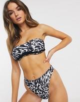 Candypants Candy Pants High Leg Zebra Print Bikini Bottom