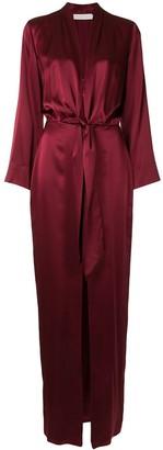 Mason by Michelle Mason Kimono Style Silk Gown