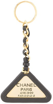 Chanel Pre Owned 1994 Logo Chain Key Holder