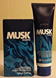 Avon Musk Marine Cologne + After Shave Conditioner