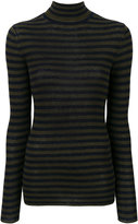 Vince striped roll neck knitted top