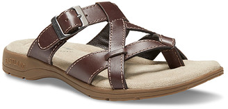 Eastland Women's Sandals BROWN - Brown Pearl Leather Sandal - Women