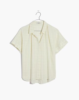 Madewell Hilltop Shirt in Windowpane Print