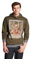 Men's Toggle Deer Hunter Print Fleece Hoodie Dark Green - Citizen Wolf