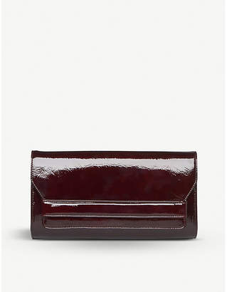 LK Bennett Ella patent-leather clutch