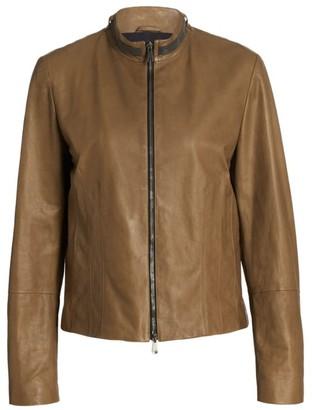 Brunello Cucinelli Leather Monili-Collar Jacket
