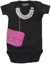 SARA KETY - Baby Girl's Pearls & Purse Bodysuit - Black