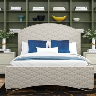Caracole Classic Quilty Pleasure Upholstered Standard Bed with Mattress Size: Queen
