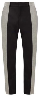 Alexander McQueen Colour-block Wool And Mohair-blend Suit Trousers - Black