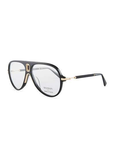 Balmain Acetate Aviator Optical Frames
