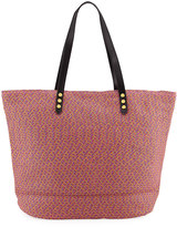 San Diego Hat Company Paperbraid Shoulder Tote Bag, Multicolor