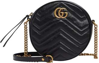 Gucci Mini Round Marmont Matelasse Shoulder Bag