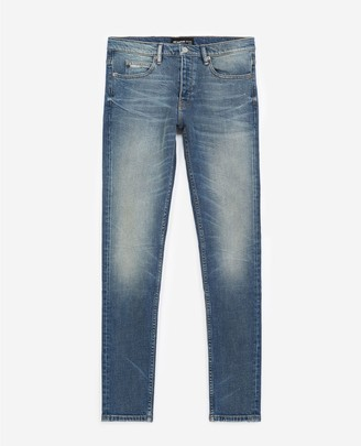 The Kooples Faded slim blue jeans in stretch cotton