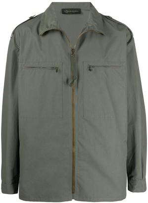 Mr & Mrs Italy Rear Logo Patch Zip Pocket Shirt Jacket