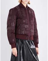 Yang Li Script-print satin bomber jacket