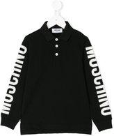 Moschino Kids long sleeve polo shirt