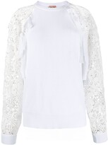 No.21 Lace-Sleeve Sweatshirt