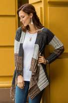 Brown and Grey Alpaca Blend Open Front Cardigan Sweater, 'Pachamama'