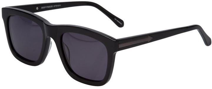 Karen Walker dark angled sunglasses