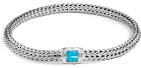 John Hardy Sterling Silver Classic Chain Extra Small Bracelet with Turquoise
