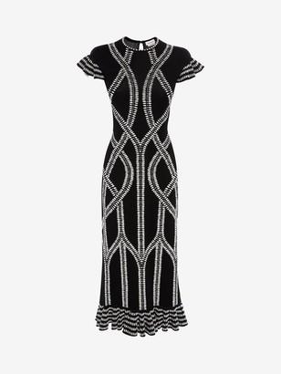 Alexander McQueen Bi-Color Jacquard knit Dress