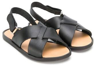 Babywalker Crossover-Strap Leather Sandals