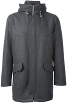 Eleventy hooded zip-up coat - men - Polyester/Viscose/Cashmere/Wool - XXL