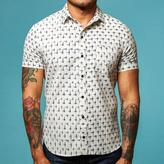 Blade + Blue Off White with Navy Ikat Short Sleeve Shirt - Miguel