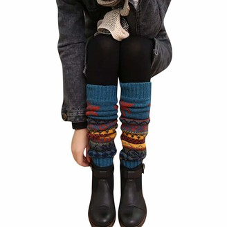Armilum Clothing Accessories Winter Warm Leg Warmers Christmas Leg Cable Knit Knitted Crochet High Long Socks Leggings Christmas Gift