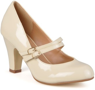 Journee Collection Wendy Patent Mary Jane Pump